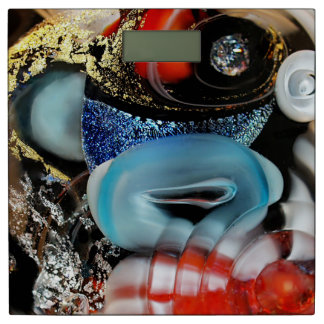 colorful Bubbles, photography, glass object, gold Bathroom Scale