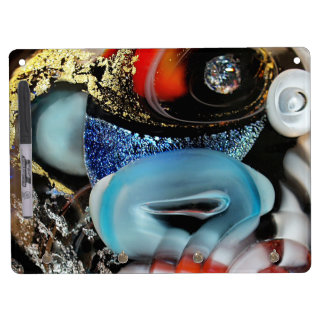 colorful Bubbles, photography, glass object, gold Dry Erase Board With Keychain Holder