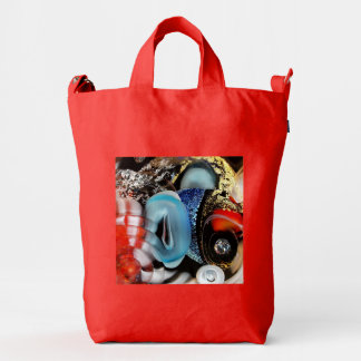 colorful Bubbles, photography, glass object, gold Duck Bag
