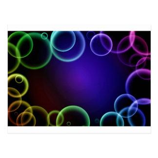 Colorful bubbles postcard