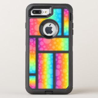 Colorful Bubbles & Retrangle Pattern OtterBox Defender iPhone 7 Plus Case