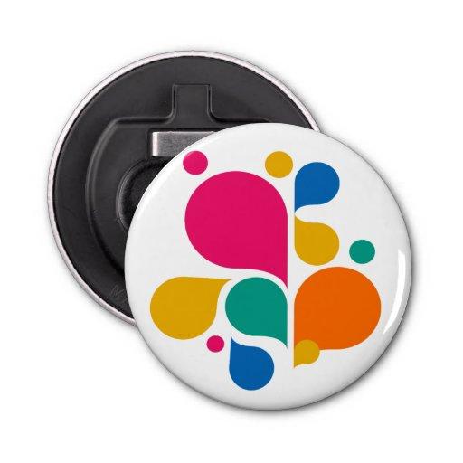 colorful bubbles round bottle opener zazzle. Black Bedroom Furniture Sets. Home Design Ideas