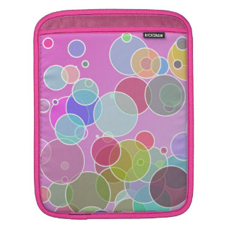 Colorful bubbles sleeve for iPads