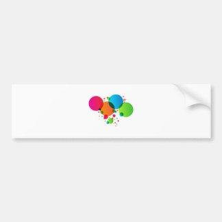 Colorful Bubbles Stars Design Element Car Bumper Sticker