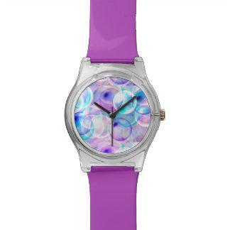 Colorful bubbles wristwatch