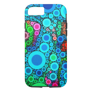 Colorful Bubbly Concentric Circles iPhone 7 Cases