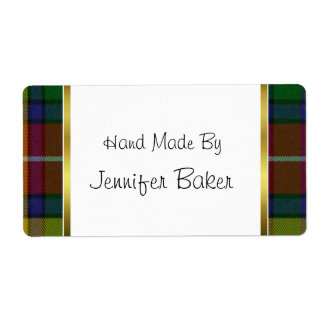Colorful Buchanan Plaid Package Labels