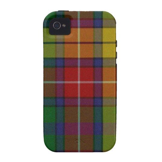 Colorful Buchanan Tartan Plaid iPhone 4 Tough Case