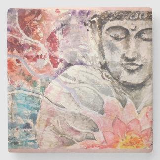 Colorful Buddha Lotus Stone Coaster