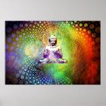 Colorful Buddha Poster