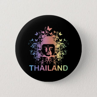 Colorful Buddha thailand Pinback Button