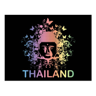 Colorful Buddha thailand Post Card
