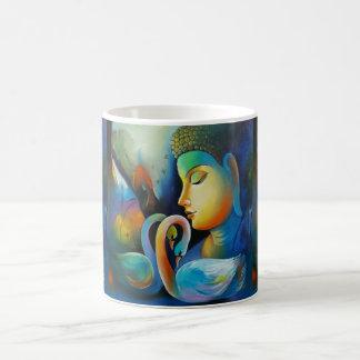 Colorful Buddha With Swans Coffee Mug