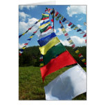 Colorful Buddhist Prayer Flags II Card