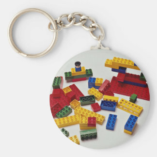 Colorful building blocks for kids keychain