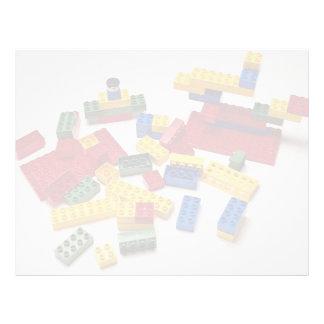 Colorful building blocks for kids letterhead