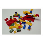 Colorful building blocks for kids poster