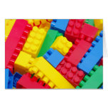 Colorful Building Blocks Greeting Cards