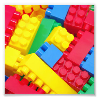Colorful Building Blocks Photo Print