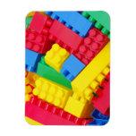 Colorful Building Blocks Rectangle Magnet