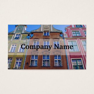 Colorful Buildings in Gdansk Danzig, Poland Business Card