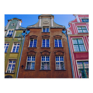 Colorful Buildings in Gdansk Danzig Poland Post Card