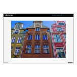 "Colorful Buildings in Gdansk Danzig, Poland Decals For 15"" Laptops"