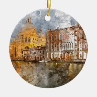 Colorful Buildings in Venice Italy Ceramic Ornament
