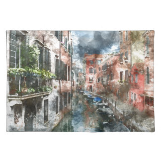 Colorful Buildings in Venice Italy Placemat