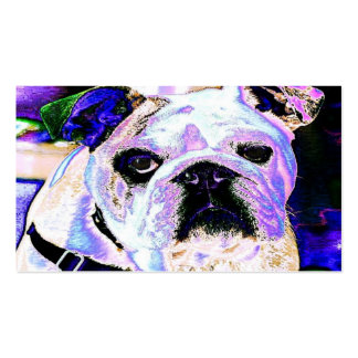 Colorful Bulldog Double-Sided Standard Business Cards (Pack Of 100)