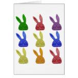 Colorful Bunnies Card