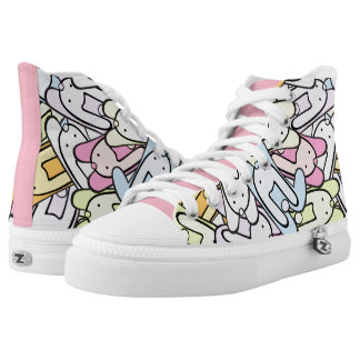 colorful bunnies High-Top sneakers