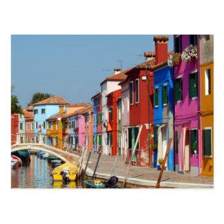 Colorful Burano Postcard