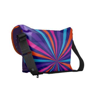 Colorful Burst Spinning Wheel Design Messenger Bag