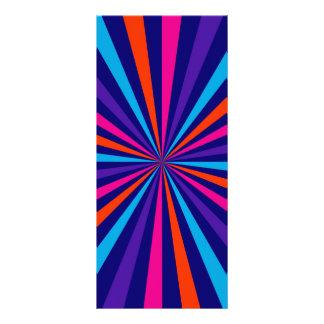 Colorful Burst Spinning Wheel Design Rack Card