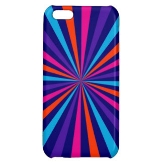 Colorful Burst Spinning Wheel Graphic iPhone 5C Cases