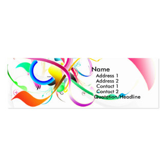Colorful business card for sale