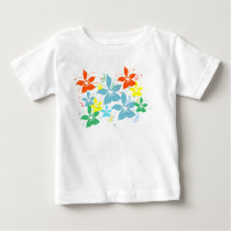 Colorful but simple flower pattern baby T-Shirt