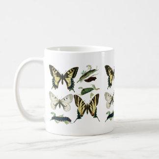 Colorful Butterflies and Caterpillars Coffee Mug