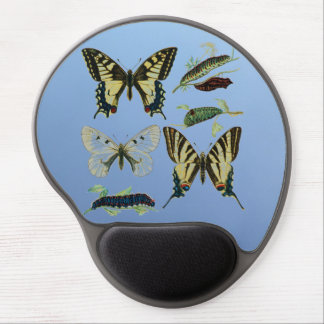 Colorful Butterflies and Caterpillars Gel Mouse Pad