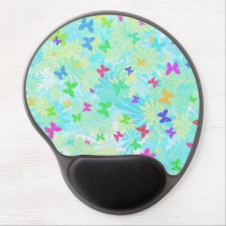 Colorful Butterflies and Daisies by Shirley Taylor Gel Mouse Pad