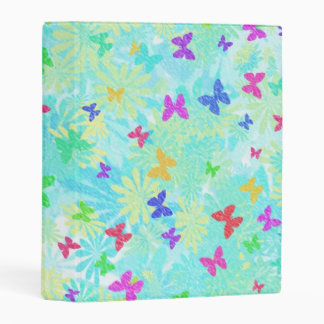 Colorful Butterflies and Daisies by Shirley Taylor Mini Binder