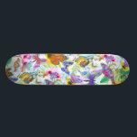 "Colorful Butterflies and Flowers Skateboard<br><div class=""desc"">A beautiful design featuring colorful butterflies and flowers.</div>"