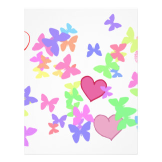 colorful butterflies and loving hearts custom flyer