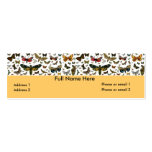Colorful Butterflies Antiquarian Image Bookmark Business Card Templates