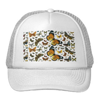 Colorful Butterflies Antiquarian Image Bookmark Trucker Hat