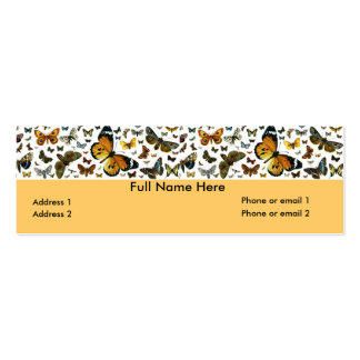 Colorful Butterflies Antiquarian Image Bookmark Mini Business Card