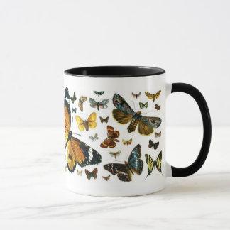 Colorful Butterflies Antiquarian Image Bookmark Mug