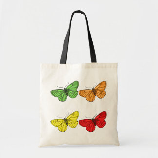 Colorful Butterflies Budget Tote Bag