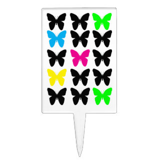 Colorful Butterflies Cake Picks
